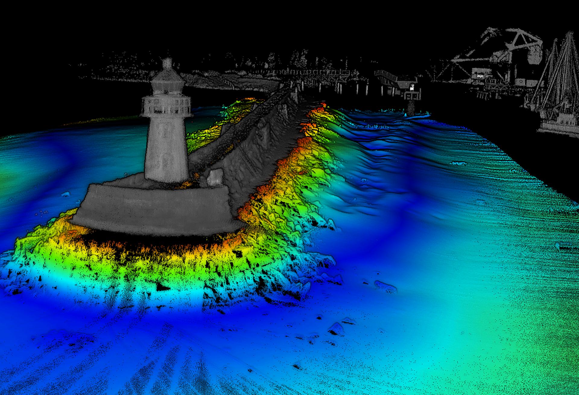 USV survey with WINGHEAD sonar