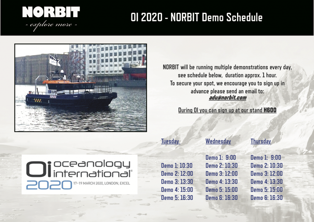 OI 2020 Demo schedule